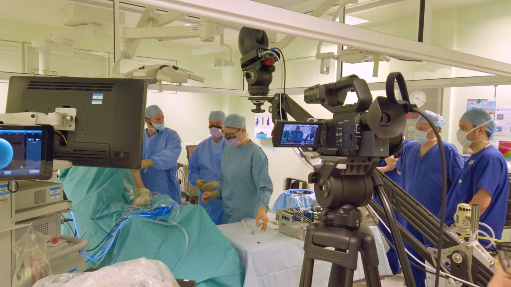 Cameras in operating room